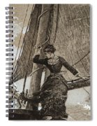 Yachting Girl Spiral Notebook