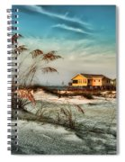 2 Yellow  Beach Houses At Mobile Street Spiral Notebook