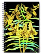Yellow Lilies, Hand Drawn Painting Spiral Notebook