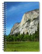 Yosemite Valley Meadow Panorama Spiral Notebook