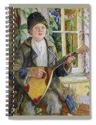 Young Boy With A Balalaika Nikolai Petrovich Bogdanov-belsky Spiral Notebook
