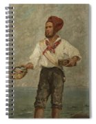 Young Fisherman In The Gulf With Capri At A Distance Spiral Notebook
