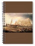 Miller Charles Henry Shipping Off Gibraltar Charles Henry Miller Spiral Notebook