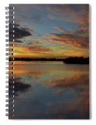 20- Sunset At Burnt Bridge Spiral Notebook