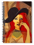 200 - Woman With Black Hat .... Spiral Notebook