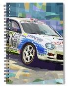 2002 Slovnaft Valasska Rally Toyota Celica Gt Four Liska Jugas  Spiral Notebook