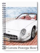 2003 Corvette Prototype Spiral Notebook