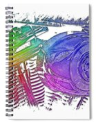 2007 Harley C 01 Cool Rainbow 3 Dimensional Spiral Notebook