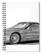 Corvette Roadster, Silver Ghost Spiral Notebook