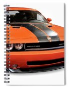 2008 Dodge Challenger Srt Muscle Car Spiral Notebook