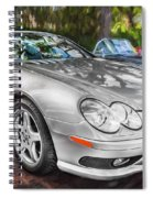 2008 Mercedes Benz Sl500 V8 Coupe Painted   Spiral Notebook
