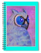 2009 Owl Negative Spiral Notebook