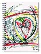 2010 Abstract Drawing Eighteen Spiral Notebook