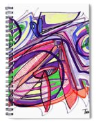 2010 Abstract Drawing Eleven Spiral Notebook