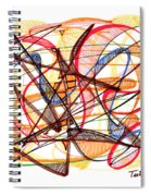 2010 Abstract Drawing Fourteen Spiral Notebook