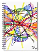 2010 Abstract Drawing Twelve Spiral Notebook