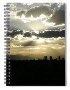 2010 June 4 Sunset Over Denver Spiral Notebook