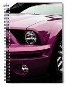 2010 Pink Ford Cobra Mustang Gt 500 Spiral Notebook