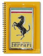 2012 Ferrari Hood Emblem Spiral Notebook