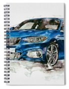 2014 B M W 2 Series Coupe With 3d Badge Spiral Notebook