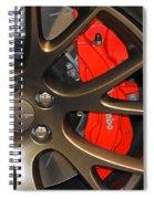2015 Dodge Challenger Srt Hellcat Wheel Spiral Notebook