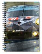 2015 Le Mans Gte-am Porsche 911 Rsr Spiral Notebook