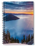 2015 Spring Sunrise From Discovery Point Spiral Notebook