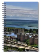 2015 View Of The Skyway And Harbor Spiral Notebook