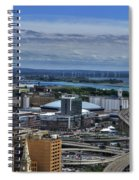 2015 View Of The Skyway And New Harbor  Spiral Notebook
