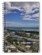 2015 View Of The Skyway  Spiral Notebook
