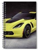 2016 Chevrolet Corvette Z06 Coupe Sports Car Spiral Notebook