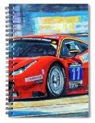 2016 Hankook 24h Epilog Brno Ferrari 488 Gt3 Winner Spiral Notebook