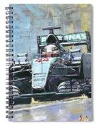 2016 Monaco Gp Mercedes Amg Petronas Hamilton  Spiral Notebook