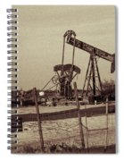 2016_10_pecos Tx_ Pump Jacks 1 Spiral Notebook