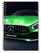 2017 Mercedes Amg Gt R Coupe Sports Car Spiral Notebook