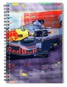 2017 Singapore Gp Red Bull Racing Ricciardo Spiral Notebook