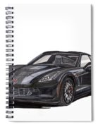 2017 Triple Black Corvette Spiral Notebook