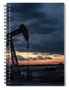 2017_08_midkiff Tx_sunset Pump Jack 4 Spiral Notebook