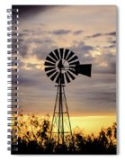 2017_09_midland Tx_windmill 9 Spiral Notebook