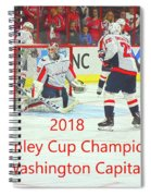 2018 Stanley Cup Champions Washington Capitals Spiral Notebook