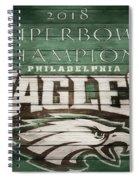 2018 Superbowl Eagles Barn Wall Spiral Notebook
