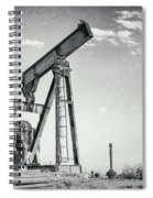 2018_04_orla Texas_broken Pump Jack 1 Spiral Notebook