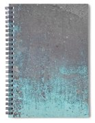 Blue Metal Spiral Notebook