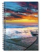 Sunrise Seascape And Rock Platform Spiral Notebook