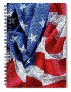American Flag 40 Spiral Notebook