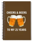 21st Birthday Gifts For Him Her Spiral Notebook