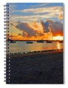 22- Sunset At Seagull Beach Spiral Notebook