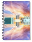 22nd Century Floating Cities Sunrise 01 Spiral Notebook