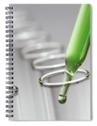 Laboratory Test Tubes In Science Research Lab Spiral Notebook