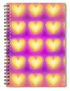 25 Little Yellow Love Hearts Spiral Notebook